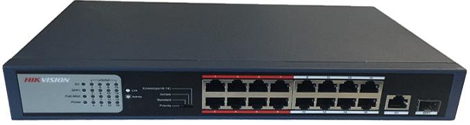 16-port 10 / 100Mbps PoE Switch HIKVISION DS-3E0318P-E / M