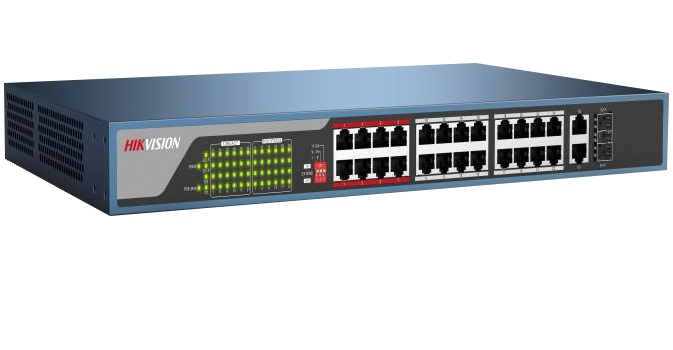 24-port 10 / 100Mbps Unmanaged PoE Switch HIKVISION DS-3E0326P-E