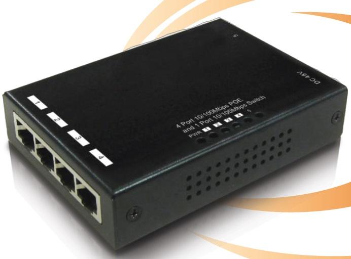 5-Port 10 / 100Mbps PoE IONNET IFE-504 Switch (72Watt)