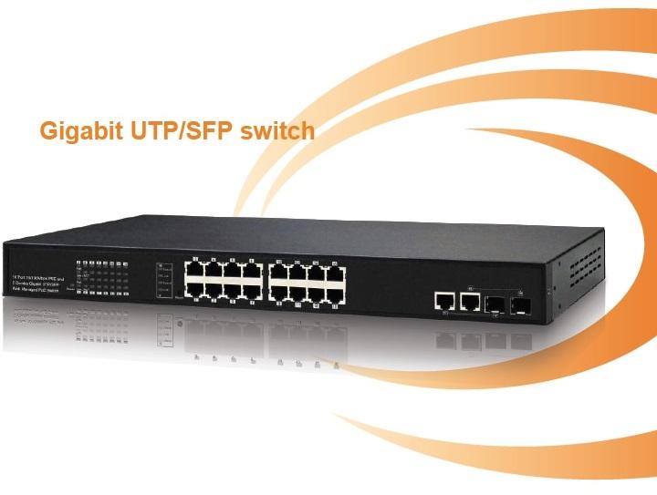 16-Port 10 / 100Mbps PoE IONNET Switch IFS-1616 (250Watt)