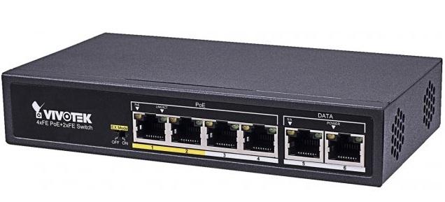 4xFE PoE + 2xFE UTP Switch Vivotek AW-FET-060C-065