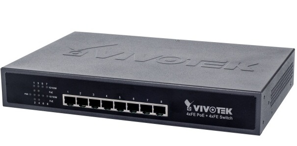4xFE PoE + 4xFE Switch Vivotek AW-FET-081A-065