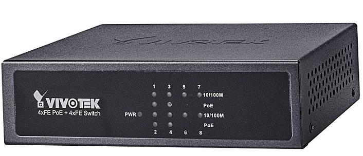4xFE PoE + 4xFE Switch Vivotek AW-FET-081B-065