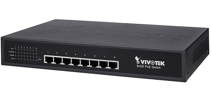 8xGE PoE Switch Vivotek AW-GET-080A-120