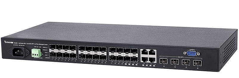 Managed Vivotek AW-GTS-287A Managed L2 Plus Switch