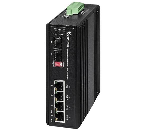 Industrial 4xGE 60W UPoE + 2xGE SFP Switch Vivotek AW-IHU-0600