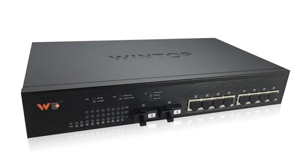 Bộ chuyển mạch 8 cổng 10/100 / 1000Base-T (X) + 2 cổng 1000Base-F (X) WINTOP YT-DS6010-2GF8GT