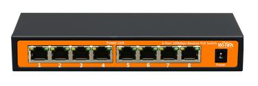 8 port 10/100 / 1000Mbps PoE Switch WITEK WI-MS308G