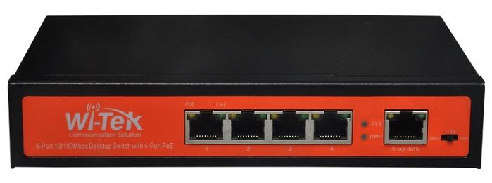 5-port 10 / 100Mbps PoE Switch WITEK WI-PS205