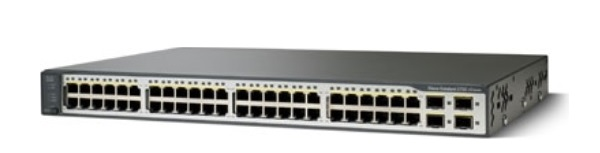48-Port Ethernet 10/100 Cisco Catalyst Switch WS-C3750V2-48PS-E