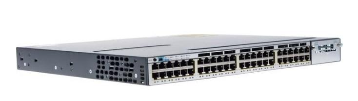 48-Port 10/100/1000 Ethernet PoE Cisco Catalyst WS-C3750X-48P-L Switch