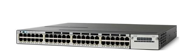 48-Port 10/100/1000 Ethernet PoE Cisco Catalyst Switch WS-C3750X-48PF-S