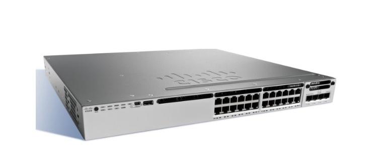 24-Port 10/100/1000 Ethernet PoE + Cisco Catalyst Switch WS-C3850-24P-E