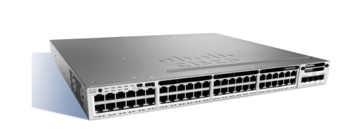 48-Port 10/100/1000 Ethernet PoE + Cisco Catalyst Switch WS-C3850-48F-S