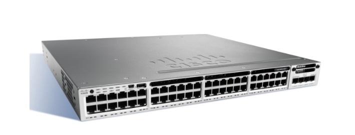 48-Port 10/100/1000 Ethernet PoE + Cisco Catalyst Switch WS-C3850-48P-L