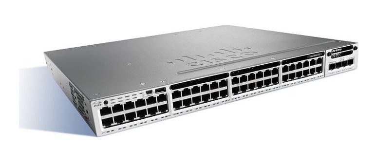 48-Port Ethernet POE Cisco Catalyst Switch WS-C3850-48PW-S