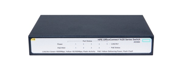 HP 1420 OfficeConnect 5-port Gigabit PoE + Switch JH328A