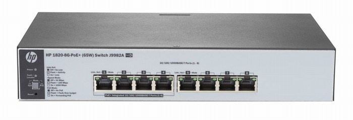 HP 1820-8G-PoE + (65W) Switch J9982A