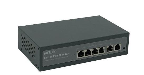 Bộ chuyển mạch PoE 4 cổng 10 / 100Mbps APTEK SF1042P