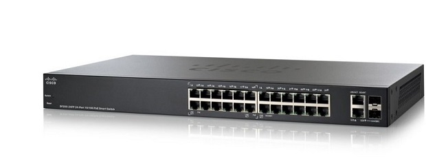 24-port 10/100 Full-PoE Smart Switch CISCO SF200-24FP-EU