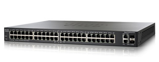 48-Port 10/100Mbps PoE Smart Switch Cisco SF200-48P