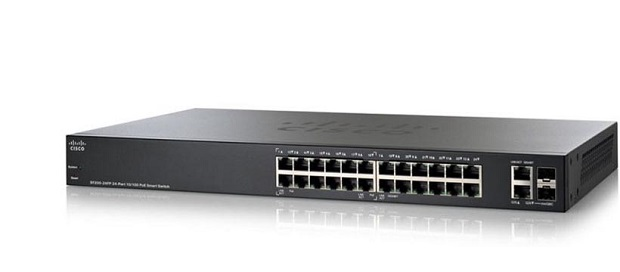 24-port 10/100 PoE+ Smart Switch CISCO SF250-24P-K9-EU