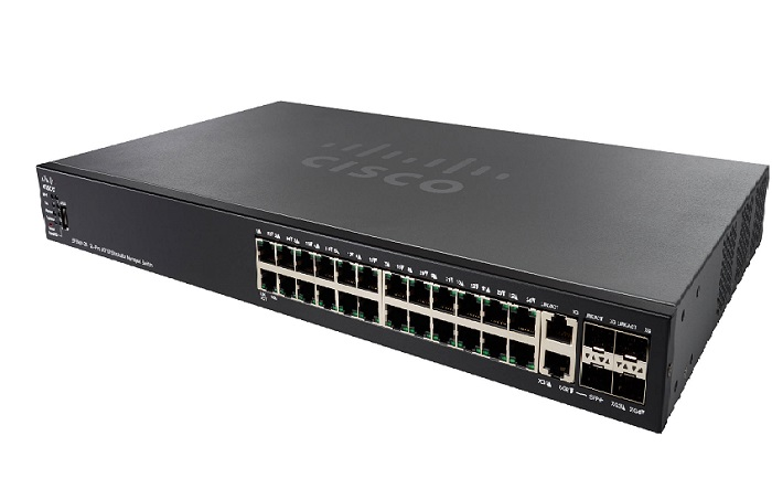 24-Port 10/100 PoE Stackable Managed Switch CISCO SF550X-24MP-K9-EU