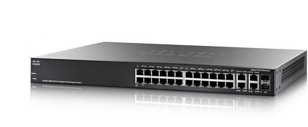 28-Port Gigabit PoE Managed Switch CISCO SG350-28P-K9-EU