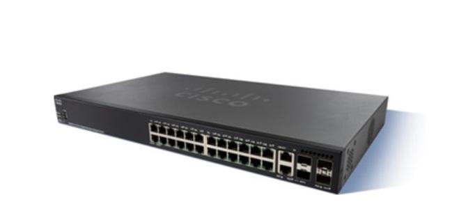 24-Port Gigabit Stackable Managed Switch CISCO SG350X-24-K9