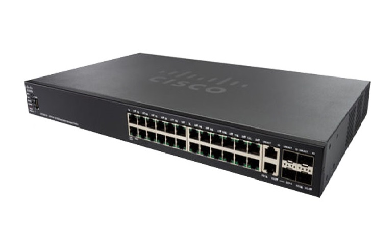 24-Port Gigabit PoE Stackable Managed Switch CISCO SG550X-24P-K9-EU