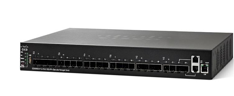 24-Port 10G SFP+ Stackable Managed Switch CISCO SG550XG-24F-K9-EU