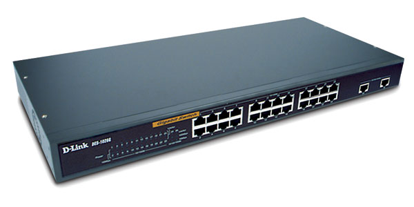 24-port Ethernet, 2-port Gigabit Switch D-Link DES-1026G / E