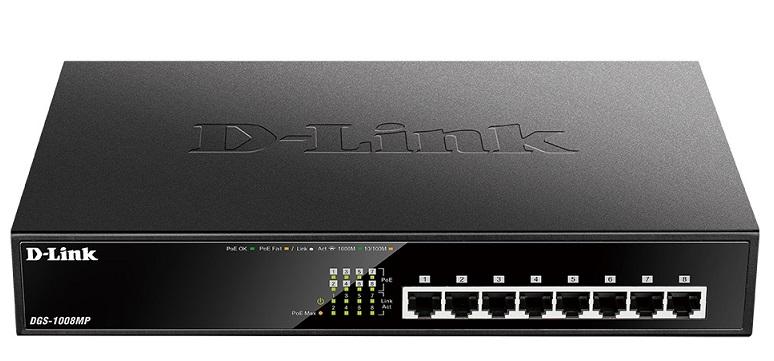 8-Port Gigabit PoE D-Link DGS-1008MP Switch