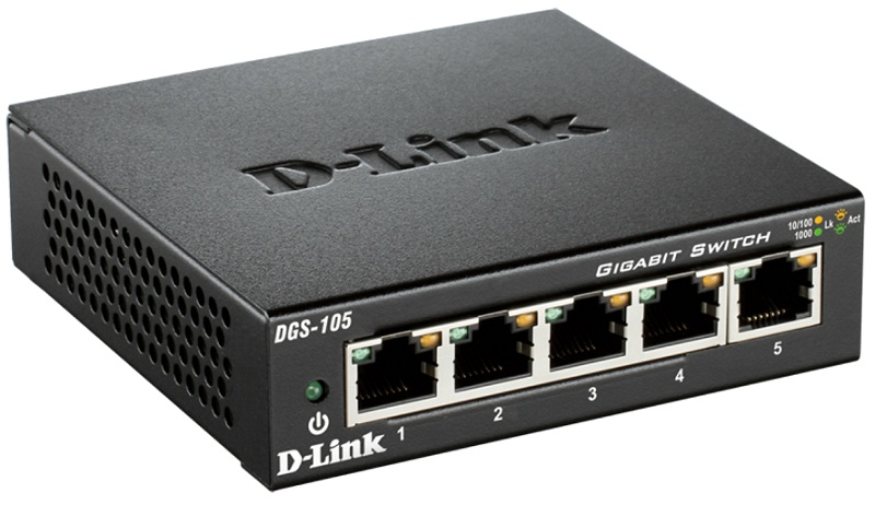 5-Port Gigabit Unmanaged Desktop Switch D-Link DGS-105
