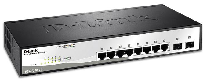 8 port Gigabit Smart Switch + 2 port Gigabit SFP D-LINK DGS-1210-10