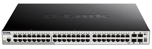 52-port Gigabit Smart Managed PoE Switch with 10G D-Link DGS-1510-52XMP Uplinks