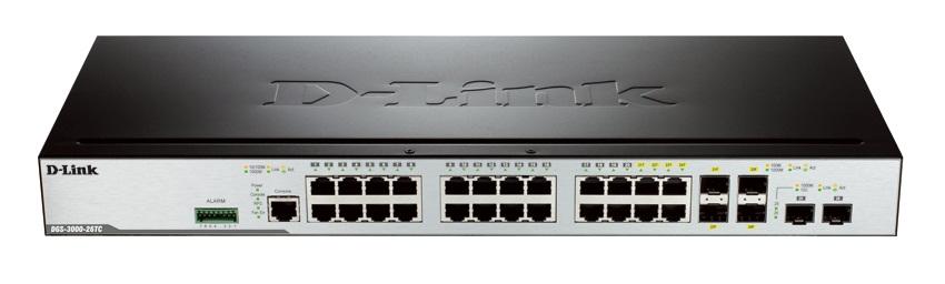 26-Port Gigabit L2 Stackable Managed Switch D-Link DGS-3000-26TC