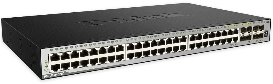 52-Port Layer 3 Stackable Managed Gigabit Switch D-Link DGS-3630-52TC / ESI