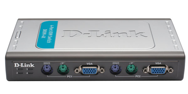 4 Port PS / 2 KVM Switch D-Link DKVM-4K