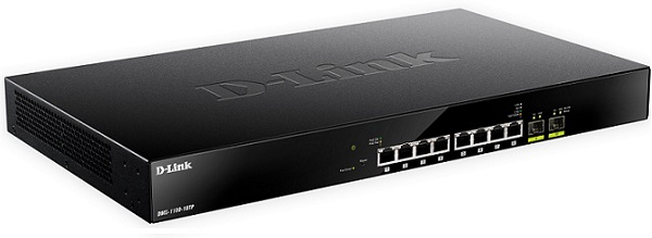 8-port Smart Managed PoE Switch with 2 ports 10 Gigabit Ethernet SFP + D-Link DMS-1100-10TP