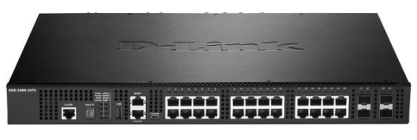24-Port Layer 3 Stackable 10 port Gigabit Managed Switch D-Link DXS-3400-24TC / EEI