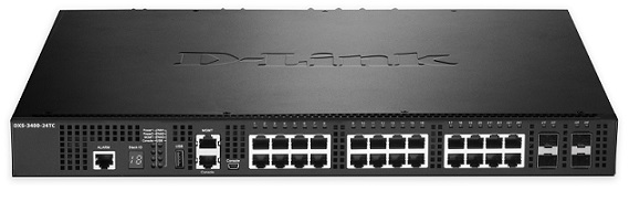 24-Port Layer 3 Stackable 10 port Gigabit Managed Switch D-Link DXS-3400-24TC / ESI