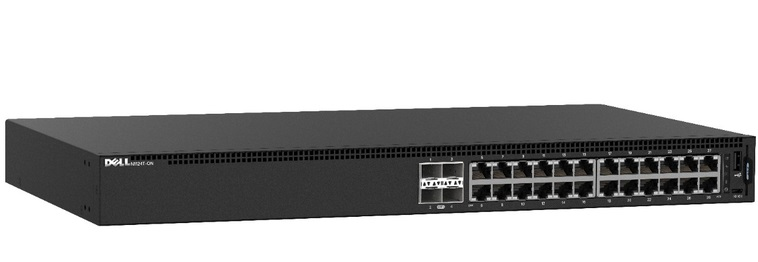 24-Port 10/100 / 1000Mbps with PoE Managed Switch DELL N1124P-ON