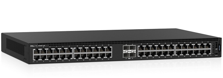 48-Port 10/100 / 1000Mbps with PoE Managed Switch DELL N1148P-ON