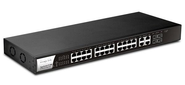 24-Port Web Smart Gigabit Switch DrayTek G1280
