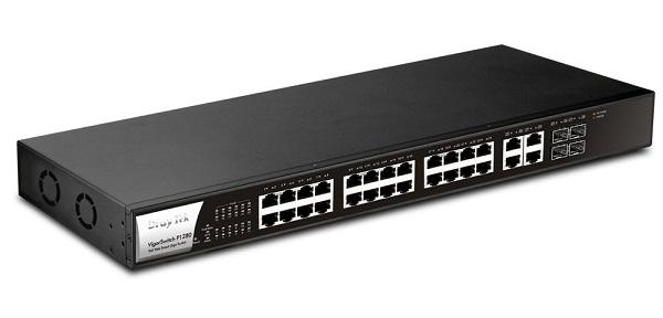 24-Port Gigabit Web Smart PoE Switch DrayTek Vigor P1280