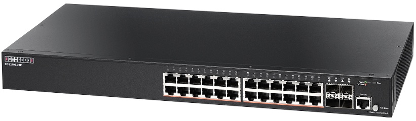 24-Port Gigabit Web-Smart Pro Switch PoE Edgecore ECS2100-28P