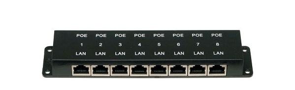 PoE Injector Passive 24V 8-Port Open Mesh