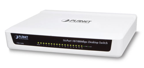 16-port 10 / 100Mbps Fast Ethernet Switch PLANET FSD-1606