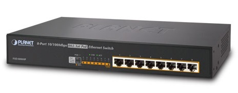 8-port 10 / 100Mbps PoE Switch PLANET FSD-808HP